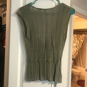 Moth Tops - Knit Green Vest